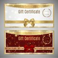 Voucher, Gift certificate, Coupon template Royalty Free Stock Photo