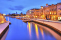 The Vouga river with traditional boats, Called Moliceiro, Aveiro Royalty Free Stock Photo