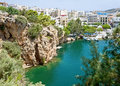 Voulismeni lake of Agios Nikolaos, Crete Stock Photo