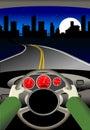 Voyage par la route Image libre de droits