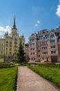 Vozdvizhenka square the in kiev in district Stock Photos