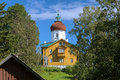 Voznesenskaya church-lighthouse, Solovki, Russia Stock Images