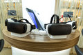 VR headsets, virtual reality sets, VR glasses Royalty Free Stock Photo