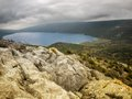 Vrana lake beautiful view of the natural phenomena such as the on cres croatia Royalty Free Stock Photos