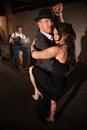 Vrouw en Man in de Dans van de Tango Royalty-vrije Stock Fotografie