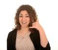 Vrouw het gesturing telefoneert me Royalty-vrije Stock Foto