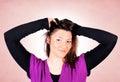 Vrouwelijk portret Stock Foto