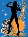 Vrouwelijke sexy de dansersster van Grunge Royalty-vrije Stock Afbeeldingen