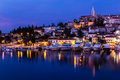 Vrsar Port And Village After Sunset-Istria,Croatia Royalty Free Stock Photo