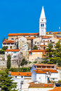 Vrsar Village With Church Tower-Istria,Croatia Royalty Free Stock Photo
