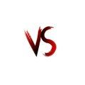 Vs versus letters vector illustration