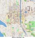 Vue aérienne de recherche de bellevue washington united states salut Photographie stock libre de droits