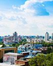 Vue aérienne d iekaterinbourg le juin Photographie stock libre de droits