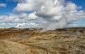 Vue au dessus de secteur géothermique Photo libre de droits
