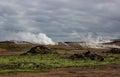 Vue au dessus de secteur géothermique Image libre de droits