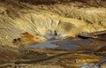 Vue au dessus de secteur géothermique Photographie stock