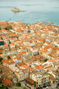 Vue Bird's-eye de centre de Nafplion Images stock