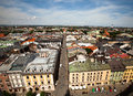 Vue bird's-eye de Kracow Images stock