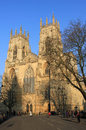Vue de face de York Minster, York, Angleterre. Images stock