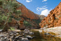 Vue de gorge d'Ormiston, Australie Photos stock