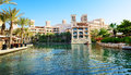 Vue du souk madinat jumeirah Photos stock