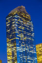 Vue sur houston du centre par nuit Photo stock