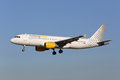 Vueling airbus a lisbon portugal july with the registration ec ilq on approach to lisbon airport lis is spanish low Royalty Free Stock Images
