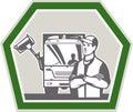Vuilnisman rubbish truck retro Royalty-vrije Stock Afbeeldingen
