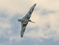 The vulcan last remaining nuclear bomber makes farewell tour of uk before grounding Royalty Free Stock Photos