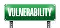 Vulnerability street sign illustration design over a white background Stock Photo