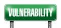 Vulnerability street sign illustration design over a white background Stock Photo