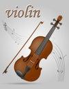 Vuolin musical instruments stock vector illustration