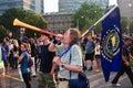 Vvuvuzela for Enviroment Protestor G8/G20 Summit Stock Photography