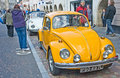 VW Beetle at Inverness car rally Stock Photography