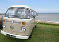 Vw camper van on show at the whitstable classic car show june picture would be ideal for advertising touring camping and holidays Stock Images