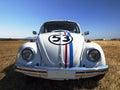 Vw volkswagen beetle old vintage car at tatoi greece retro cars circuit june Royalty Free Stock Photo