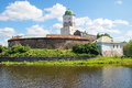 Vyborg the ancient castle in the city of in the leningrad region Stock Images