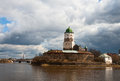 Vyborg castle in the early spring Royalty Free Stock Image