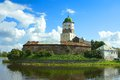 Vyborg castle located city vyborg castle island Stock Image