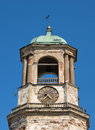 Vyborg old clock tower in the ancient city of in the leningrad region Stock Photography