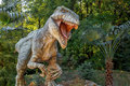 Vyskov czech republic tourist attraction realistic model of big tyranosaurus rex in jungle Royalty Free Stock Images