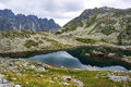 Vysoke tatry beautiful mountain glacial lake in national park high tatra slovakia Royalty Free Stock Images