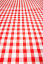 W kratkę tablecloth Obrazy Stock