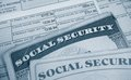 W and social sec tax form security cards Royalty Free Stock Image