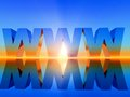 W w w www in d letters on sunset background Royalty Free Stock Photos