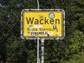 Wacken city limits sign Royalty Free Stock Photo