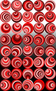 Wacky red retro spirals  Stock Image