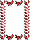 Wacky valentines day heart border Stock Images