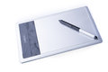 Wacom bamboo pen and touch with stylus isolated fun on white baground Royalty Free Stock Photography