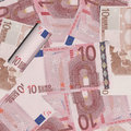 Wad of cash illustration euro Stock Image